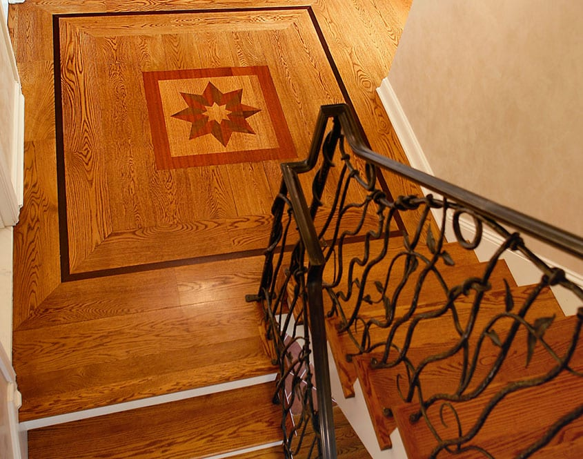 hardwood staircase in southern il