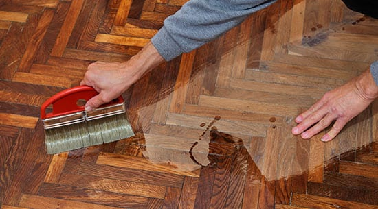 staining hardwood floors near southern il