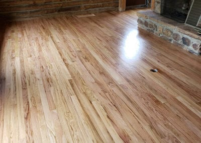 Hardwood Repair & Refinishing Project for a log home in Posey County, Indiana